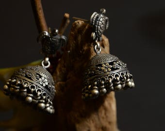 Silver earrings Indian special design
