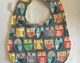 Baby Bib - Wise Owls