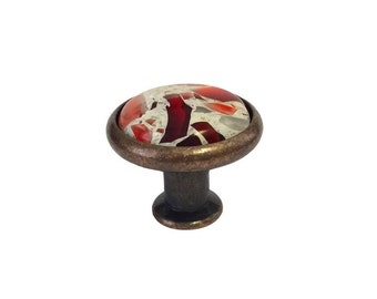 Vetrazzo Ruby Red - Antique Pewter