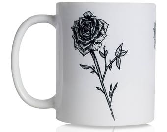 Black Roses 11oz Coffee Mug