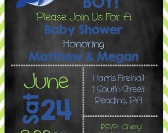 Ahoy It's a Boy Baby Shower Invite, Nautical Boy Baby Shower Invite