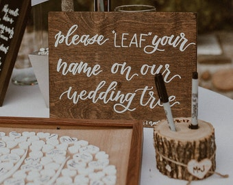 "Custom Wedding Wood Sign // Hand lettered // 8""x10"""
