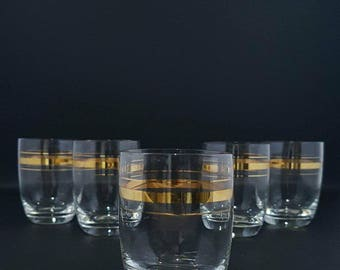 Small Cups - Glass Cups - Golden Thread Cups - Glass of One Breath