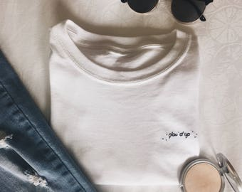 GLOW'D UP Embroidered T-Shirt