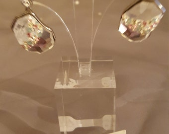Swarovski Glamour earrings - Silver Rainbow
