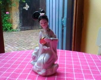 Japanese lady figure - vintage porcelaine
