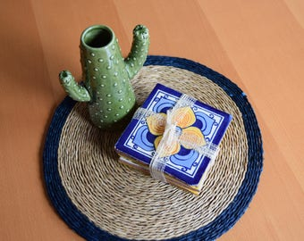 Mexican Style Recycled Tile Coasters