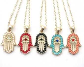 Fatima hand hamsa necklace