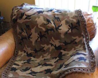Camouflage Baby, Toddler Blanket