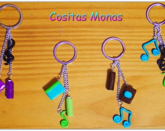 School-inspired key chains