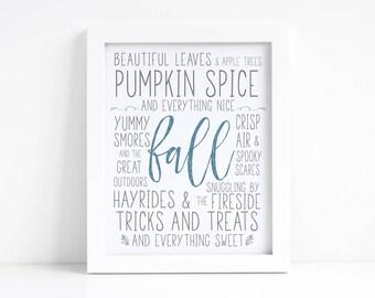 Fall Printable - Fall Sign - Fall Decor - Autumn Sign - Autumn Decor - Autumn Printable - Fall Decorations - Neutral Fall Decor - Seasonal