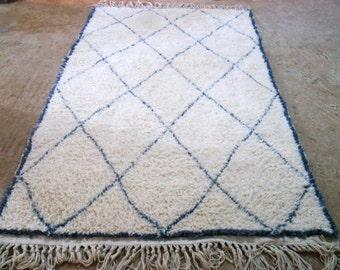 Beni ourain  rug beni ouarain moroccan berber rug beniouarain tapis marocain  Taille :1.87cm/95cm   6ft/3ft