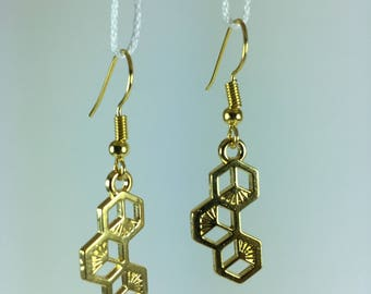 These alveoli bee earrings