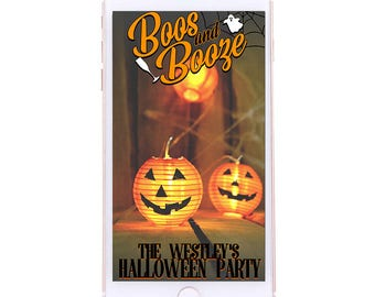 CUSTOMIZABLE Halloween Geofilter - Boos and Booze, Halloween Party, Trick or Treat, Haunted House
