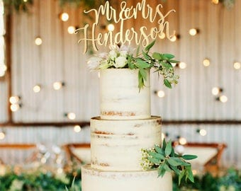 Customized Wedding Cake Topper, Personalized Cake Topper for Wedding, Custom Wedding Cake Topper, Mr and Mrs Cake Topper, Monogram topper