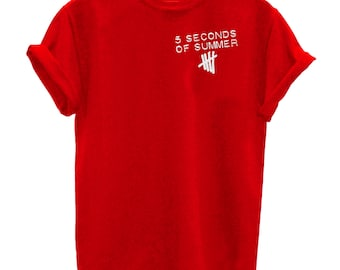 Five 5 Seconds Of Summer T Shirts 5sos music band T-Shirt Cotton O Neck unisex Tees t shirt