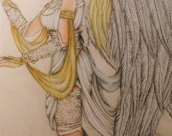 "Original Drawing ""Melancholia"""