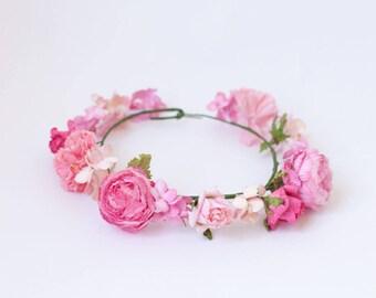 Handmade Flower Crown, Flower Headband, Festival Headband, Bridal Flower Crown, Fall Wedding, Flower Crown Headpiece