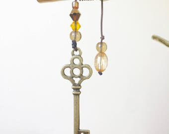 Skeleton Key Pendant Bookmark - 4 types - Handmade