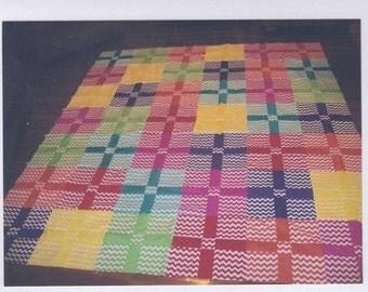 Bright Colored Chevron Quilt