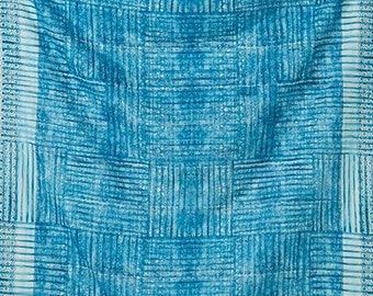 Nani Iro Japanese Fabric  Kokka Ori-some Double Gauze - kujakuao - 50cm