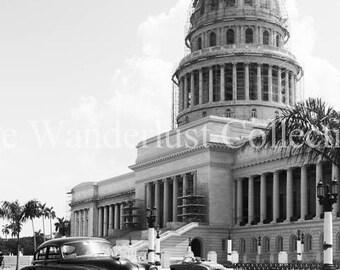 Havana, Cuba | Classic Car in Front of El Capitolio - Fine Art Photography Print