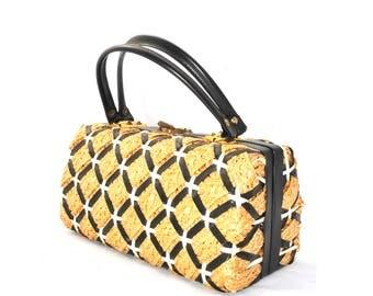 Vintage Basket Weave Box Bag