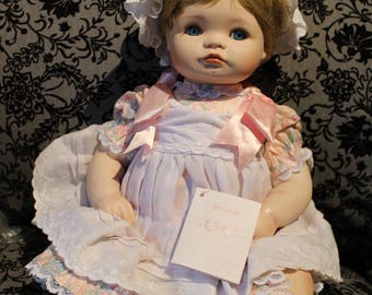 Vintage Hamilton Dolls Connie Walser Derek Jessica Porcelain Doll Collectible