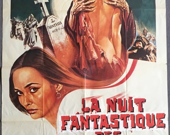 French movie poster La Nuit fantastique des morts-vivants (Le notti erotiche dei morti vivent) Joe D'Amato Joe 1988