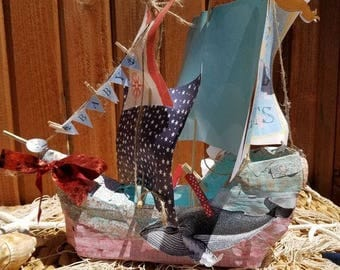 Paper Mache Ship-Welcome Ship