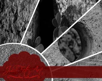 "Photoshop texture stone, digital paper, ""Stones from Malta"" - Set 1 - Black & White"