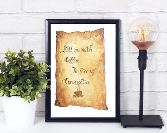 Coffee lover print - Coffee lover printable - Funny office quote - Funny boss gift - Instant download quote - Instant download printable art