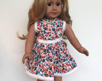 """18 inch  doll dress handmade  18 """" Doll Clothes made to fit dolls like American Our Generation Journey Girl Design a Friend"""