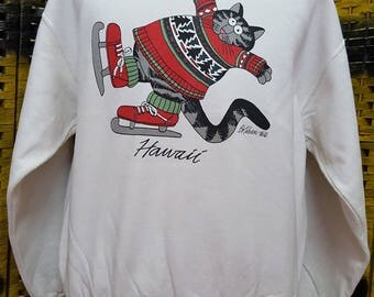 Vintage BKLIBAN / Hawaii / Crazy Shirt / small size sweatshirt (G11)