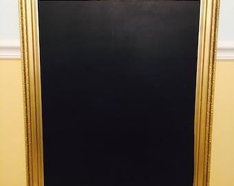 Gold Framed Chalkboard; Wedding Chalkboard; Chalkboard Sign
