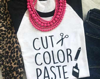 Cut, Color, and Paste Women's Fashion Tee