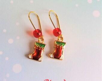 Boots Christmas earrings