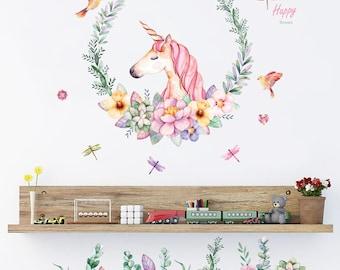 Unicorn Removable Wall Vinyl Art Sticker Decal Mural Room Decor