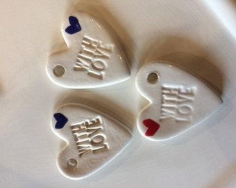 Ceramic gift tag