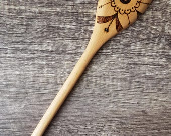 Pyrography Wooden Spoon