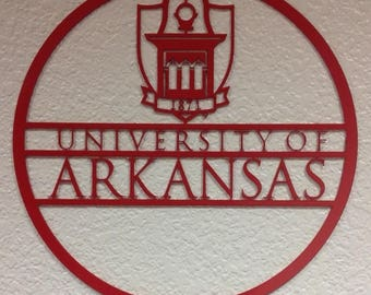 University Of Arkansas Circle Wall Art
