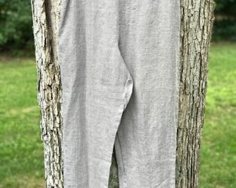 flax capri pants