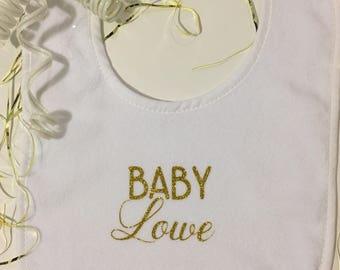 Custom, personalized baby bib/keepsake