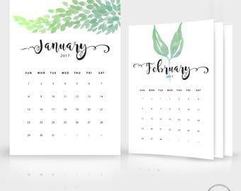 2018 calendar by month template