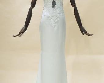 Mermaid wedding dress, Mermaid bridal gown, Lace wedding gown