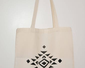 Tote bag / Tote / unbleached organic cotton novelty Native