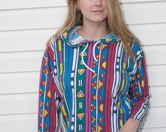 Vintage Simply Basic colorful hoodie - size medium