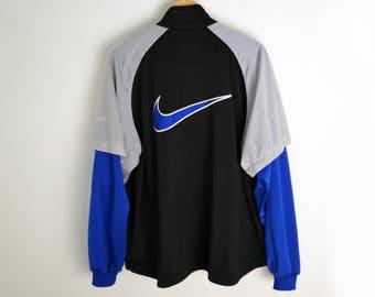 Nike jacket M L Vintage Nike shirt 90s Nike jacket Nike Shirt men Sports jacket 90s shirt Nike men L Shirt with long sleeve Nike jumper Coat