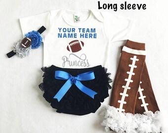 baby girl carolina panthers football - carolina panthers baby - carolina panthers baby girl football - football leg warmers - panthers girl