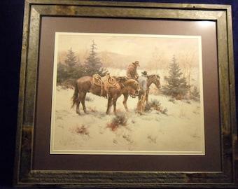 Gary Niblett vintage framed print